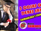 Empleo como Criminólogo o Criminalista, Trabajo en Criminología y Criminalística